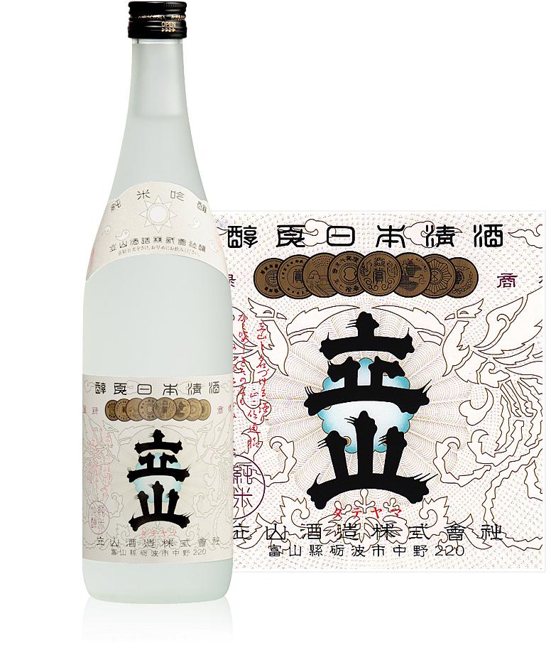 純米吟醸立山720ml瓶詰