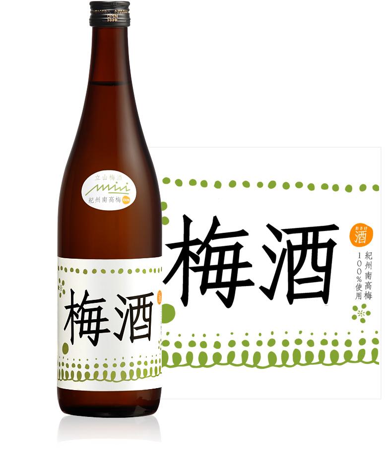 立山梅酒720ml詰