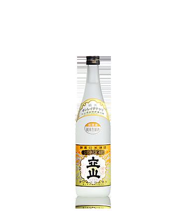 立山無濾過純米生原酒 720ml詰